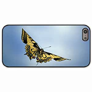 iPhone 5 5S Black Hardshell Case sky butterfly wings Desin Images Protector Back Cover