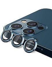 MARGOUN for iPhone 12 Pro Max Camera Lens Protector (6.7 inch), Premium HD Tempered Glass Aluminum Alloy Lens Screen Sticker Cover Film (dark blue)