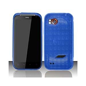 Blue Flex Cover Case for HTC Rezound 6425