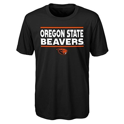 Beavers Store Oregon State - Gen 2 NCAA Oregon State Beavers Youth Boys Short Sleeve Performance Tee, Youth Boys Medium(10-12), Black