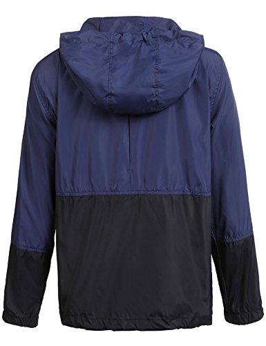 Capuche vent Extérieure Randonnée Femme pluie Vestes Bleu À De Imperméable 1 Anti Pliable Léger Coupe Coorun SwAOXnq
