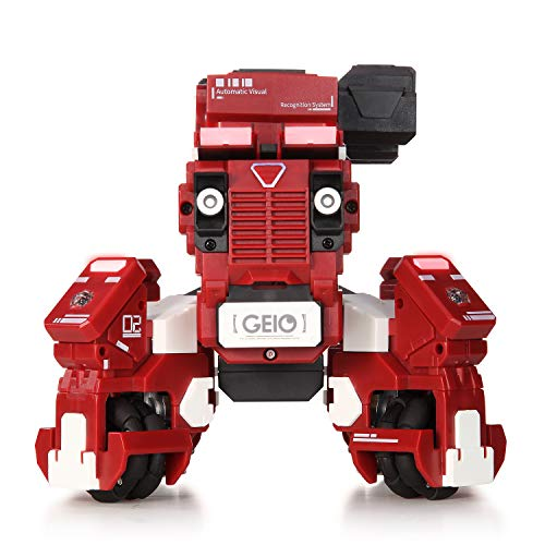 GJS Robot - GEIO App-Enabled Augmented Reality Gaming Robot with High Speed Motion System, Multi-Player Battle Mode and STEM Coding Interface, Red by GJS Robot (Image #3)
