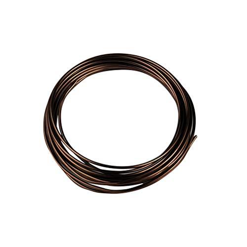 Yardwe Bonsai Coaching Wire Aluminum Craft Wire 1.5mm 2mm 2.5mm 3mm Bonsai Wire for DIY Handwork Gardening 5 Rolls (Brown)
