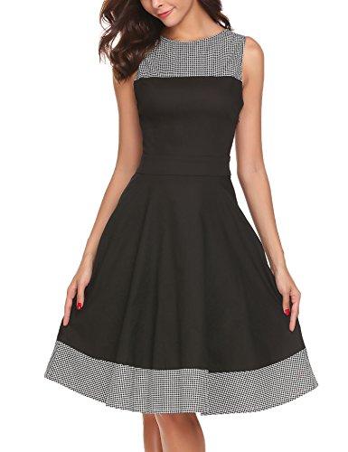 50s style boat neck dress - 9