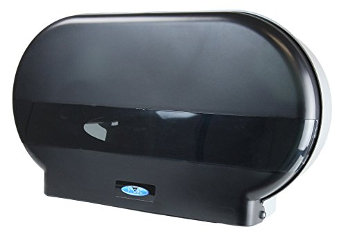 (Frost 171-P Jumbo Toilet Tissue Dispenser Two Rolls, Polycarbonate Black Cover, Two 9