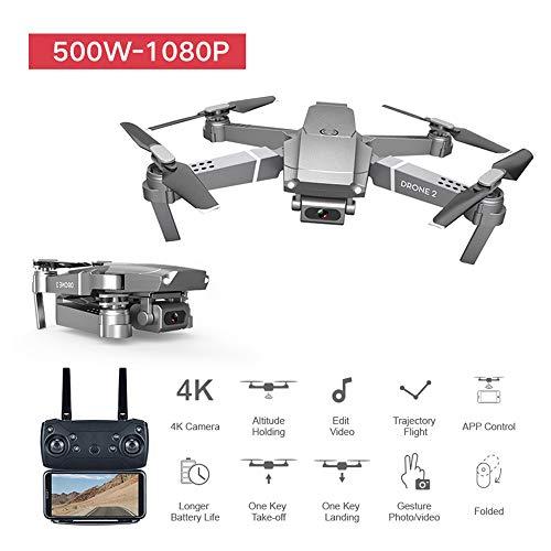 ViiTech Mini Drone Plegable E68 con cámara HD de Gran Angular WiFi Control Remoto FPV Grabación de Video Quadcopter en…