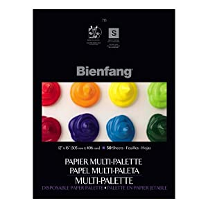 Bienfang 12 by 16-Inch Multi-Palette Disposable Palette, 50 Sheets