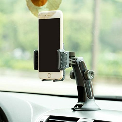 X4 ZMax Pro Z981 ANSEWIRELESS 4351501080 Grand X Max 2 Duo LTE 3-in-1 Car Mount Windshield Dash AC Airvent Holder Stand Window Glass Dock Multi-Angle Rotating for ZTE Blade X MAX X3 XL