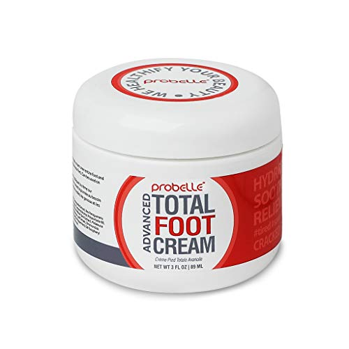 Probelle Advanced Total Foot Cream- Foot Cream for Dry Cracked Feet - Soothing, Rejuvenating Feet Moisturizer for Rough and Sore Feet - 3 Oz.