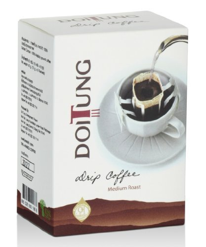 # DoiTung Product - Drip Coffee Medium Roast Premium Brand in Thailand Pure 100% Arabica Net Wt.60g (1 Box =6 Pack) - Easy to Drink