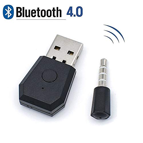 USB Bluetooth 4.0 Adapter, Ziihoo Mini Wireless Adapter + EDR Dongle Receiver - Bluetooth Transmitter for Headset and Controller Compatible with PS4 - Bluetooth Edr