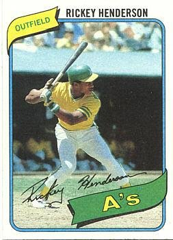 1980 Rookie Card (1980 Topps Baseball #482 Rickey Henderson Rookie Card)