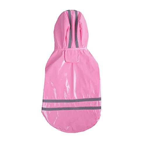 (WEUIE Clearance Sale Pet Dog Hooded Raincoat Pet Waterproof Puppy Dog Jacket Outdoor Coat (XL,Pink))