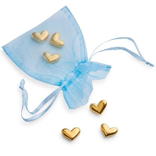 Vilmain Golden Heart Pocket Tokens, Bag of 6 Pocket Coins - Danforth - Figurine Heart Pewter