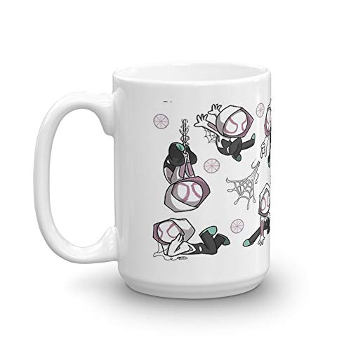 Lil Spider-Gwen 15 Oz Ceramic Coffee Mugs With C-shape Handle, Comfortable To Hold. 15 Oz Fine Ceramic Mug With Flawless Glaze Finish