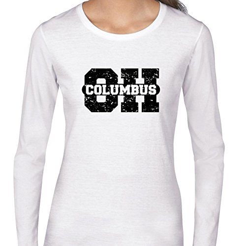 (Columbus, Ohio OH Classic City State Sign Women's Long Sleeve)