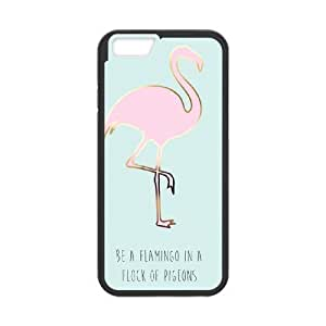iPhone 6 Plus 5.5 Inch phone case Black BE A FLAMINGO IN A FLOCK OF PIGEONS RRTM6146418