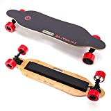 "BLITZART Tornado Electric Skateobard Longboard E-Skateboard Motorized Electronic Hub-Motor, 3.5"" Wheels, Red"