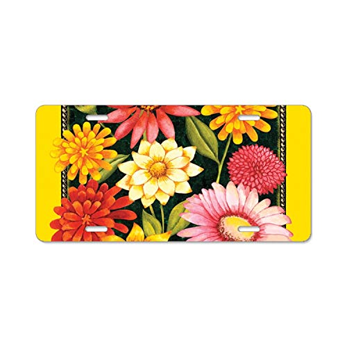 - Imtailang Yellow Welcome Bouquet Flag Alumina License Plate Frame,6 L X 12 W Inches