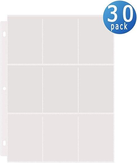 Amazon.com: Toupeone - Fundas para tarjetas de béisbol de 9 ...
