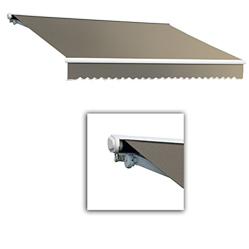 Awntech 12-Feet Galveston Semi-Cassette Manual Retractable Awning, 120-Inch Projection, Taupe