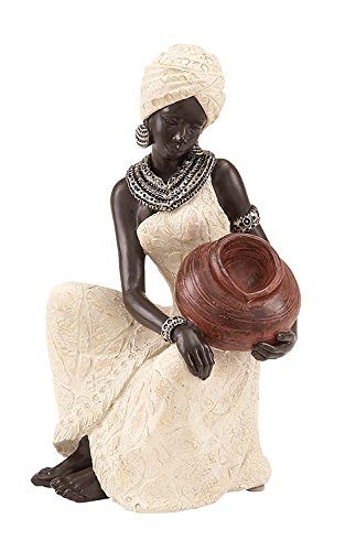 Elaan31 23141 African Statues Figure Sculpture Table Top Polystone