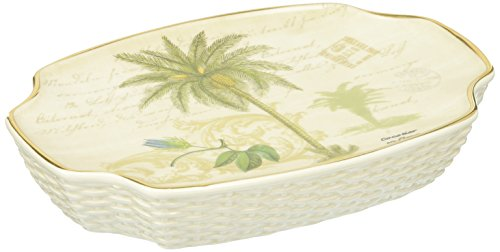 Palm Tropical Soap Dish - Avanti Linens Colony Palm Soap Dish