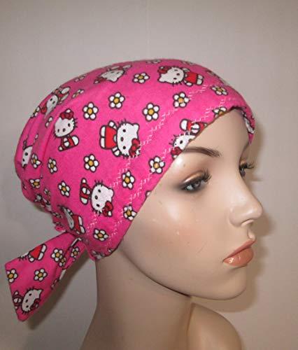 (Scrub Cap Chemo Hat Flannel Pink Hello Kitty)