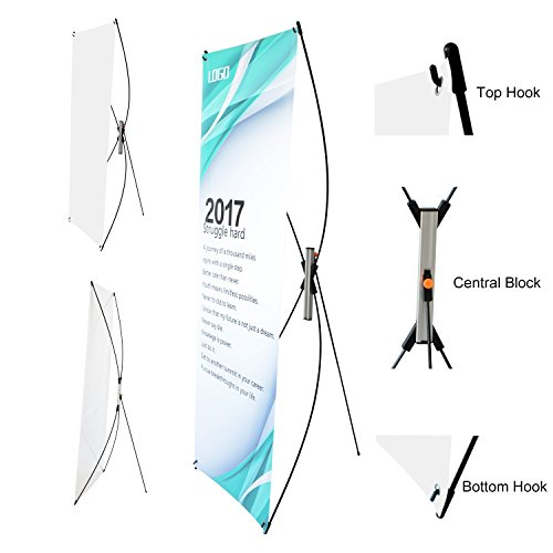 T-Sign Adjustable Tripod X Banner Stand Fits Banner Sizes From 23