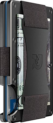 The Ridge Authentic Minimalist Metal RFID Blocking Wallet - Cash Strap (Gunmetal) | Wallet for Men | RFID Minimalist Wallet, Slim Wallet