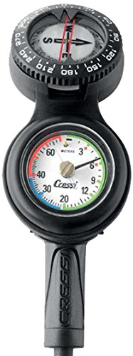 Cressi Console CPD3 Compass and Pressure and Depth Gauge, PSI