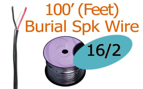 16/2 Awg 100 ft Oxygen Free Direct Burial Rated Speaker Wire FT4 (New)
