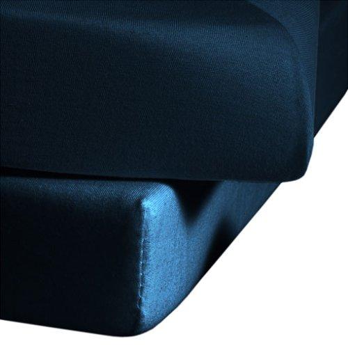 34 opinioni per fleuresse 1115-6544 Lenzuolo in jersey con angoli elasticizzati, 100% cotone,
