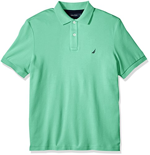 Nautica Men's Classic Fit Short Sleeve Solid Soft Cotton Polo Shirt, Mint Spring, X-Large