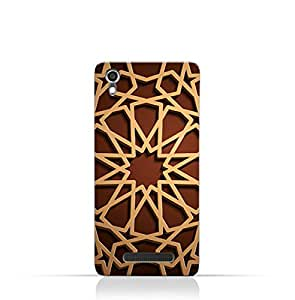 AMC Design Lava Iris 820 TPU Silicone Case with Arabic Geometric Pattern