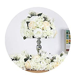 Sevem-D New Artificial Flower Rose Flower Row Wedding Road Lead Table Flower Stage Road Lead Decoration Props 59