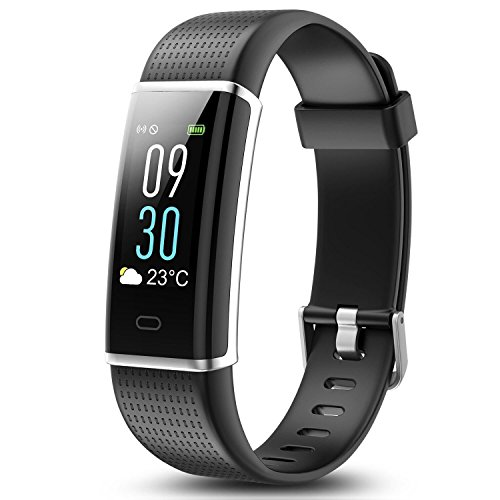 Cood Fitness Tracker, N3 Activity Tracker: Heart Rate and Sleep Monitor, Bluetooth Fitness Wristband Bracelet, Waterproof Smart Wristband for Android & IOS (Black) … by Cood