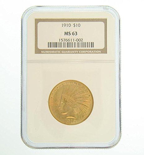 1910 Pre-1933 US Gold Coins $10 MS63 NGC 1910 Gold Coin