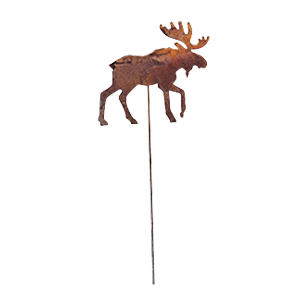 Village Wrought Iron RGS-19 Moose Rusted Garden Stake   B003NIEVNS