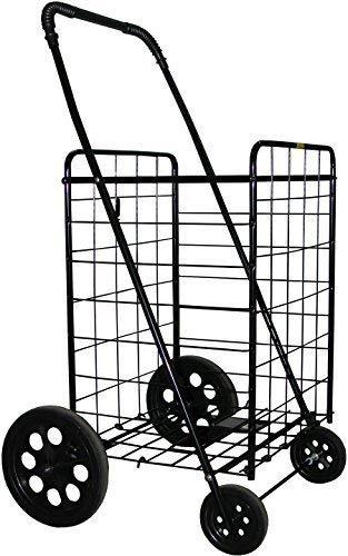 (PrimeTrendz Jumbo Folding Shopping Cart | Jumbo Size | 150 LB Capacity | Color:)