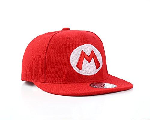 Super Mario Themen Snapback Baseballkappe (Mario)