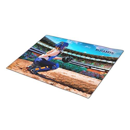 bellous Decorative Door Mats Softball Catcher And Stadium Painting Unique Doormats (Sliding Mat Softball compare prices)