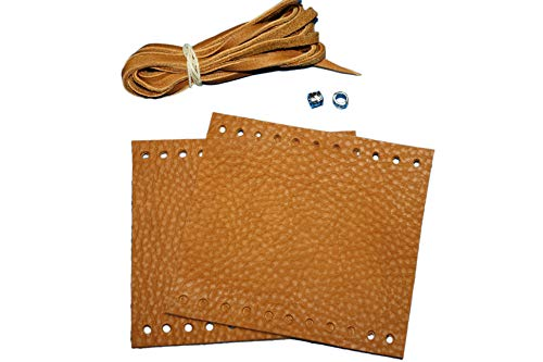 Mark's Custom Designs Heavy Duty Tan Leather Motorcycle Grip Covers for Indian Touring, Bagger, and Cruiser
