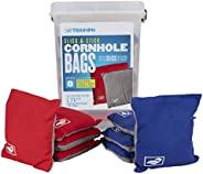 Triumph Sports Cornhole Bags - 8 Pack with Carrying Case - Multiple Styles Available