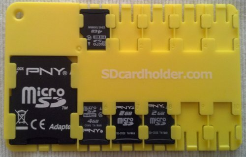 Micro SD card holder - YELLOW