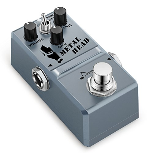 Donner Metal Head Guitar Effect Pedal Super Mini Metal Distortion Pedal - Metal Distortion Mini Effects Pedal