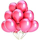 Harry Zone 200 pcs Pink Latex 12'' Balloons for Decoration