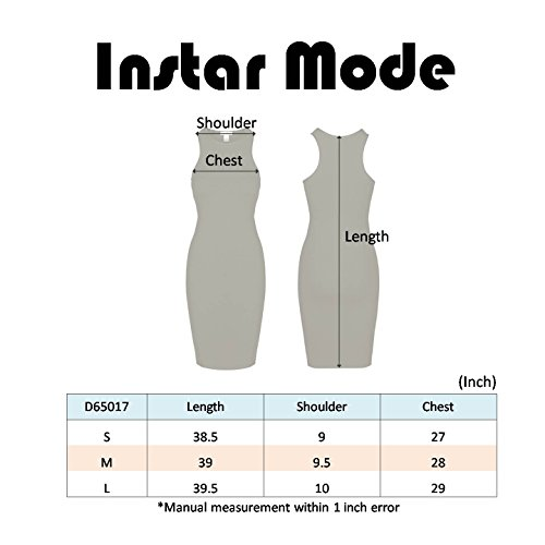 Mode Sleeveless Midi Any Women's D65017 Stretchy Instar Peach Occasion Dress Bodycon 4AOU4q