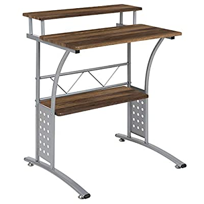 Flash Furniture NAN-Clifton-WH-GG Computer Desks