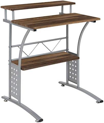 Flash Furniture Clifton Rustic Walnut Computer Desk